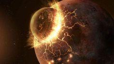 Nieuw bewijs voor ontstaan van maan door botsing