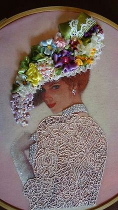 stumpwork MUST be resurrected Silk Ribbon Embroidery, Embroidery Applique, Embroidery Stitches, Embroidery Patterns, Wedding Embroidery, Modern Embroidery, Ribbon Art, Ribbon Crafts, Doilies Crafts