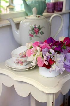 Pretty little flowers and china!
