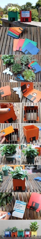 Floppy disk planter