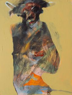 Rick Bartow Minotaur 3 , 2011 acrylic on panel 12 x 9 in 55 x 76 cm Artist Gallery, Life Drawing, Art Images, Bing Images, Animal Paintings, Figure Painting, Figurative Art, Art World, Contemporary Artists