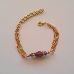 GOLD VIBES mixed bead bar with purple skull bracelet Skull Bracelet, Beaded Bracelets, Unique Jewelry, Jewelry Design, Hand Chain, Anklets, Hands, Bar, Purple