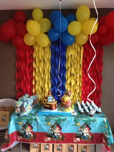 Jack and the Neverland pirates theme Alejandro & Daniel 2nd Birthday