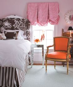 Chinoiserie Chic: The Balloon Shade like the shade not so crazy about the pink check with orange and brown