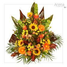 floral pedestal arrangements orange flowers