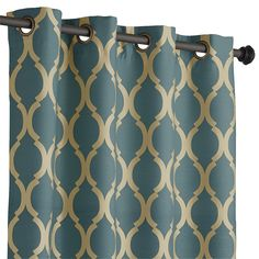 Teal 108 Moorish Tile Curtain