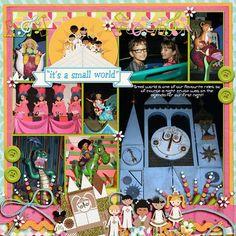 Template: Pocket Perfect Volume 3 (Kellybell Designs) Kits: World So Small (Kellybell Designs), Magic Kingdom Rides Volume 1 (Kellybell Designs)