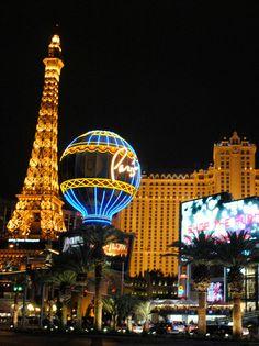Paris Casino, Las Vegas at night
