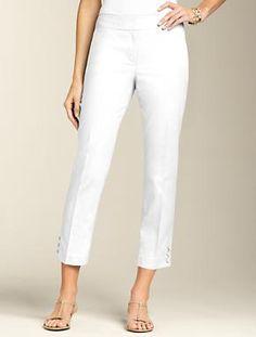 Curvy Piqué Crop Pant | Pants | Misses