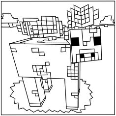 minecraft cow coloring pages | 56 Best Minecraft coloring pages images in 2019 ...