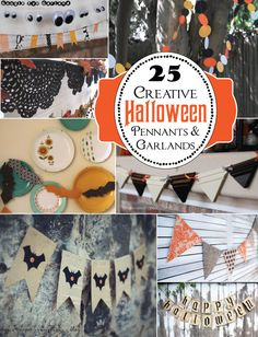 25 Halloween garlands