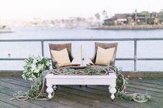 lounge area, photo by Brooke Photography and Design http://ruffledblog.com/nautical-inspired-anniversary-shoot #weddingideas #lounges