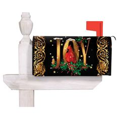 Add a festive touch to your outdoor decor with this lovely mailbox cover, showcasing a cardinal accent and welcoming message.   Prod...