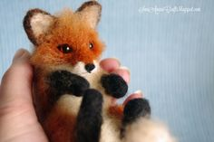 Needle felting - (part XV - Miniature Red Fox II) | SaniAmaniCrafts