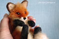 Needle felting - (part XV - Miniature Red Fox II) | SaniAmaniCrafts