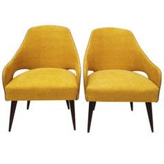 1950s Pair of Small Italian Armchairs
