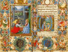 Illuminated Annunciation Manuscript