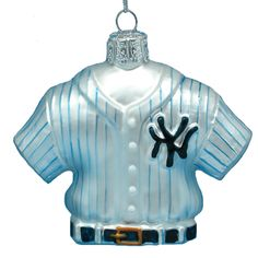 GLASS #YANKEES #JERSEY #ORNAMENT ITEM # MB0018YNK #nyyankeeornaments
