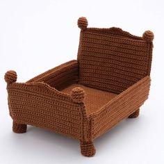 Crochet Toys Patterns, Stuffed Toys Patterns, Crochet Dolls, Crochet Baby, Half Double Crochet, Single Crochet, Crochet Furniture, Tsumtsum, Barbie Furniture
