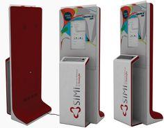 Digital kiosk by Notus Design Studio , via Behance