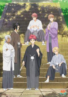 Shokugeki no Soma// Yukihira Soma, Takumi Aldini, Ryo Kurokiba, Akira Hayama and Kojirou Shinomiya