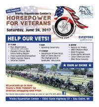 Eau Claire, WI - June 24, 2017: Horsepower for Veterans. All proceeds fund Trinity's FREE therapy for veterans with PTSD.