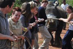 Volunteering in South Africa, helping save Rhino's from pouching.