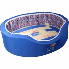 Kansas Jayhawks Basketball Arena Pet Bed #KansasJayhawks #KUBasketball #Dogs