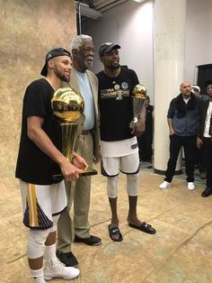 """GS Warriors. """"Steph Curry, Bill Russell & Kevin Durant NBA FINALS 2017"""""""