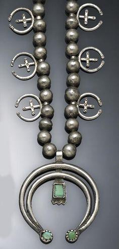 Navajo silver Naja necklace.