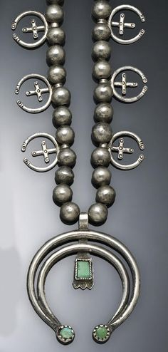 Navajo silver Naja necklace.