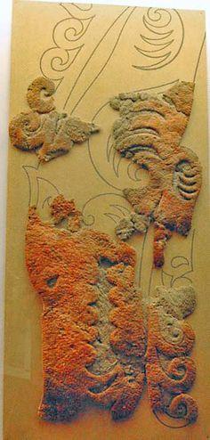 hermitagepazyryk1a.jpg (334×700) Fragment of saddle-cloth hanging depicting tiger. Pazyryk, 2nd Bashadar barrow, 6th or 5th c. BCE (date uncertain, but earlier than other Pazyryk graves). Felt. Pub.: Rudenko 1960, pl. CXXII.