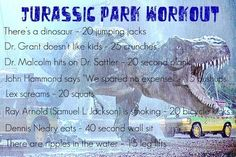 Jurassic Park Movie Workout- As much as I watch this movie I could be in awesome shape lol Netflix TV Workouts, TV Workout Games