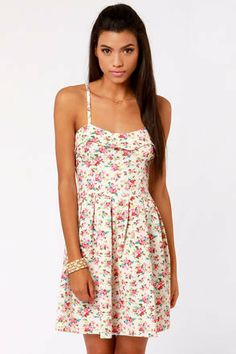 Lavand Bud-dy System White Floral Print Dress on Wanelo