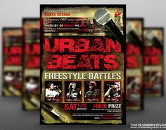 """Check out new work on my @Behance portfolio: """"Freestyle Rap Battle Flyer Template V3"""" http://be.net/gallery/35080807/Freestyle-Rap-Battle-Flyer-Template-V3"""
