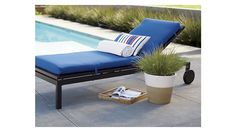 "Alfresco Grey Chaise Lounge with Sunbrella ® 3"" Cushion"