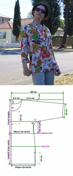 El patrón-modelo de la túnica a todas las dimensiones