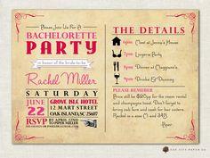 Bachelorette Invitation  Bachelorette Party by OakCityPaperCompany, $18.00