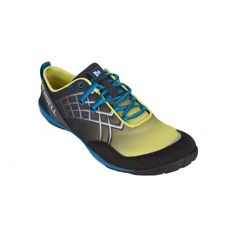 The Merrell Trail Glove 2 Barefoot running shoe has a fabric and synthetic upper, TrailProtect pad and Vibram® outsole.