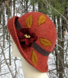 Autumn Cloche hat