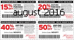 Hancock Fabrics Coupons Ends of Coupon Promo Codes JUNE 2020 ! On in Baldwyn, crafting and fabrics based Hancock Mississippi. Love Coupons, Print Coupons, Coupons For Boyfriend, Coupon Stockpile, Hancock Fabrics, Free Printable Coupons, E Online, Grocery Coupons, Extreme Couponing