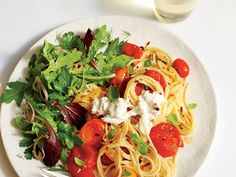 Learn how to make Spaghetti with Wilted Tomatoes and Burrata . MyRecipes has 70,000+ tested recipes and videos to help you be a better cook
