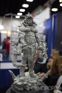 The art of sculpting, SDCC Shiflett Bros. After being pretty impressed by their work from last year, I dropped by the Shiflett Brothers' booth again this year to see what they were u...