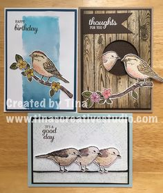 """12 Likes, 2 Comments - Tina's Creative Studio (@tinascreativestudio) on Instagram: """"Love the Best Birds stamps and matching dies from Stampin' Up! One of my recent card classes.…"""""""