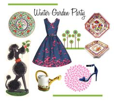 """""""Winter Garden Party"""" by seasidecollectibles ❤ liked on Polyvore featuring interior, interiors, interior design, home, home decor, interior decorating, Moreau and Breckelle's"""