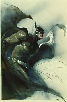 Batman: Here Comes Sketchbook 2011 Cover by Gabriele Dell'otto Comic Art
