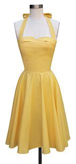 JUST IN- BRIGHTS! Trashy Diva Trixie Dress txdress2-yellowpoplin