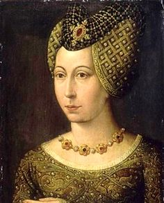 art XIVe ༺ portrait of marguerite of bavaria, duchess of burgundy † medieval renaissance magnifique palette brun bronze peinture painting collection reine queen Moda Medieval, Medieval Hats, Medieval Jewelry, Medieval Costume, Medieval Fashion, Medieval Clothing, Historical Clothing, Historical Photos, Hennin