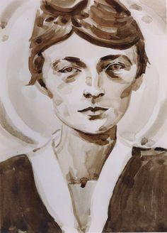 Georgia O'Keefe, by Elizabeth Peyton