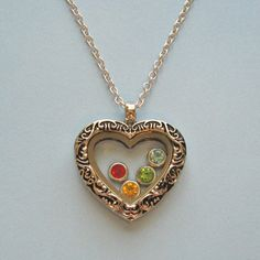 antique heart locket necklace  choose your charms by juliethefish